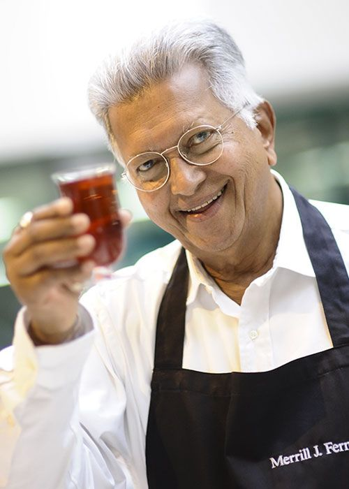 Merrill J. Fernando is joined in his passion for tea by his sons, Malik and Dilhan, whose names form the Dilmah brand.