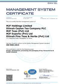 ISO 9001:2015 Certificering