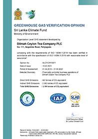 Green House Gas Verificatie-advies voor broeikasgassen voor Dilmah