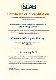 Microbiologie & Chemisch laboratorium Accreditatie Certificaat
